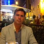 Cenando en el restaurante Paris in Trastevere Roma