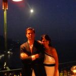 Imponente vista al mediterraneo desde la terraza del restaurante Rossinis en Ravello