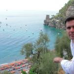 Vista de la playa de Positano