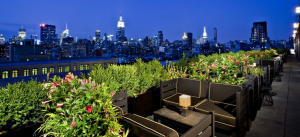 Terraza del hotel Dream Downton en Nueva York