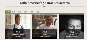 Top 50 restaurantes en Latinoamérica Guía Pellegrino