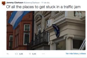 La provocación de Clarkson en Twitter
