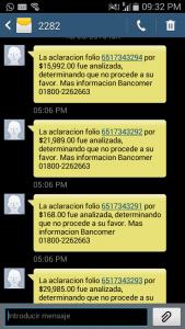 Mensaje que me mandaron de BBVA Bancomer para decirme que me chingaron mi dinero
